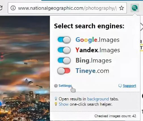Расширение для браузера PhotoTracker Lite